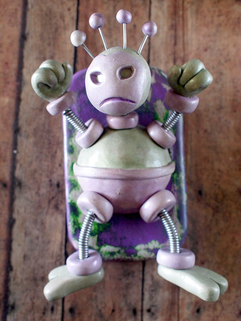 Hulk Bot Abstract MINI WALL ART 3D Robot Sculpture Superhero image 0