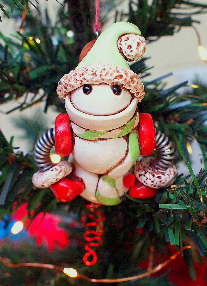 Snowman Snowbot Robot Jet-Pack Geeky Christmas Ornament Unisex image 0