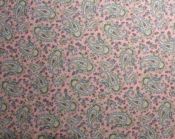 Mauve Paisley fabric yardage