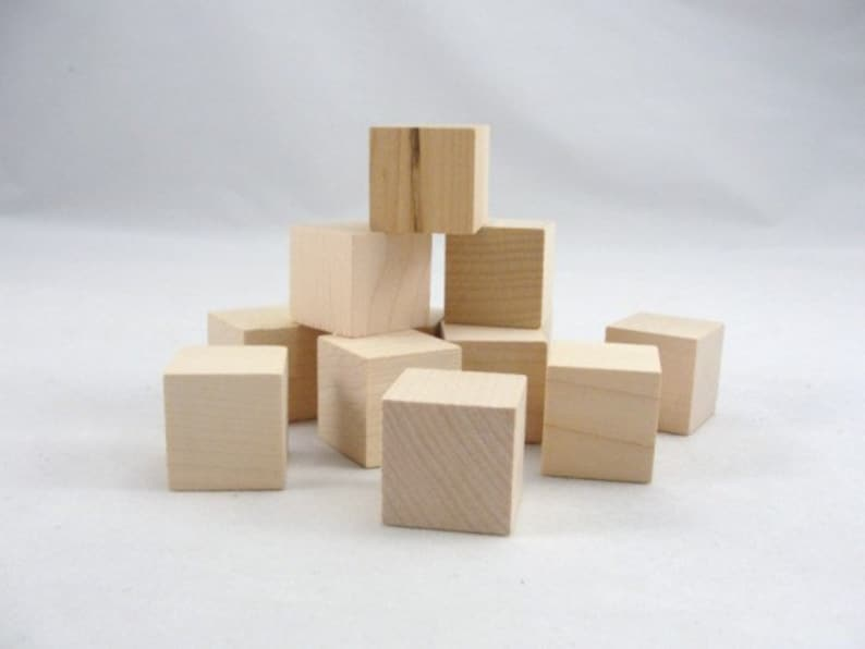 Small Wooden Cube One Inch Unfinished Wooden Cube 1 Unfinished Wooden Blocks Set Of 12