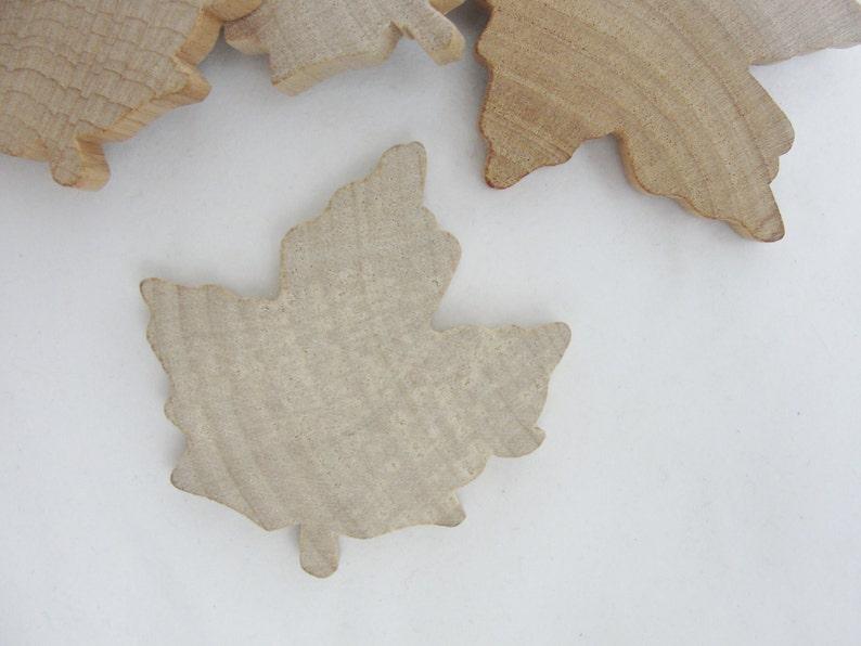 Large Wooden Maple Leaf Wooden Leaf Leaf Cutout Wood Leaf Cutout Set Of 6