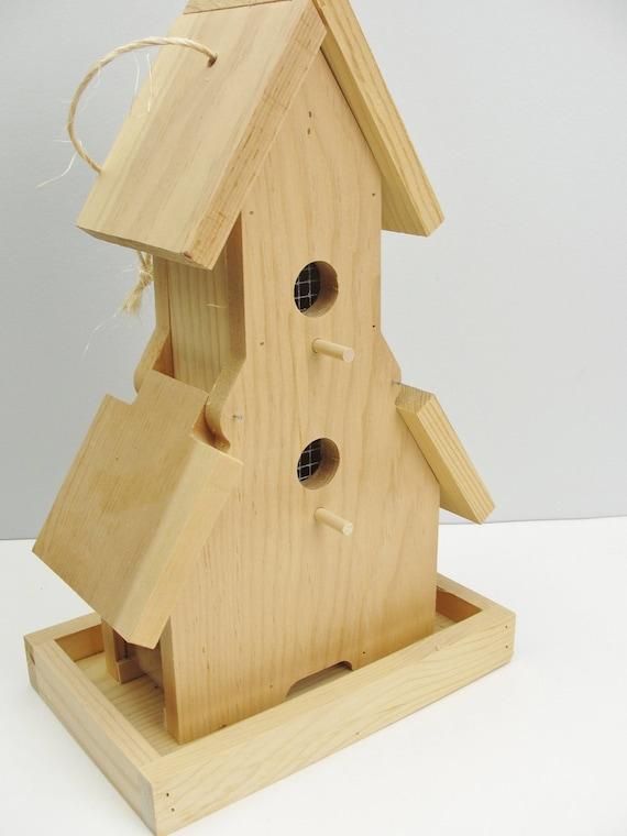 Wooden Bird Feeder Unfinished Diy