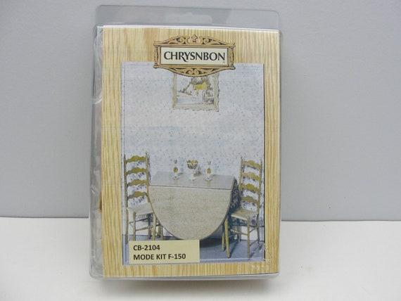 Chrysnbon Dollhouse Miniatures Drop-leaf Table Furniture Kit