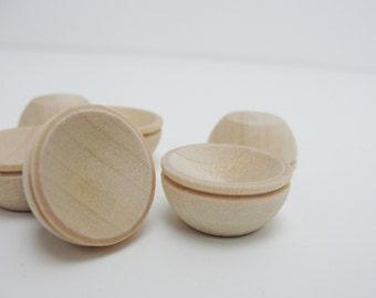 "Miniature bowl, 3/4"" bowl (.75""), 3/4 inch bowl, dollhouse bowl, mini bowl, set of 6 unfinshed"