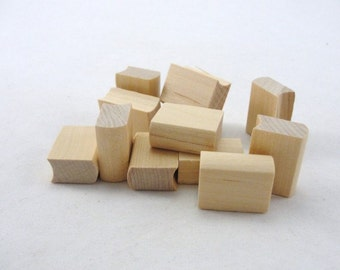 """12 Mini Wooden books, 1"""" unfinished wood book"""