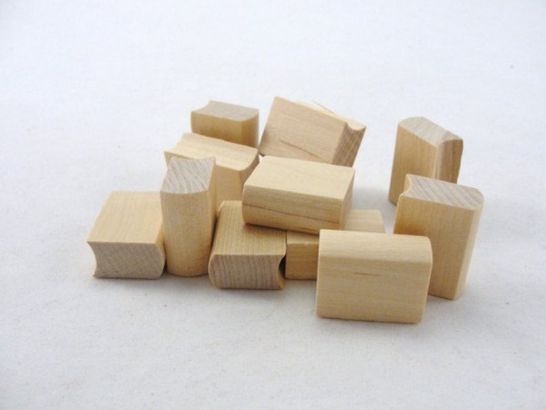 12 Mini Wooden books 1 unfinished wood book image 0
