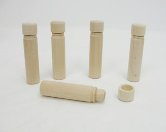 SECONDS Wooden needle case, diy needle box, toothpick holder set of 5
