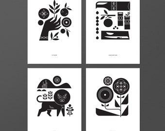 Zodiac 4 Print Set