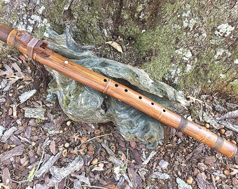 Native American Style Flute, Key of Low A#m, Bamboo and Walnut from Tree of Life Designs