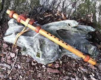 "Native American Style Flute Pine ""Old Style"" Key of high B from Tree of Life Designs"