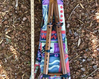Padded Flute and Accessory Bag A-shaped Drone Flute