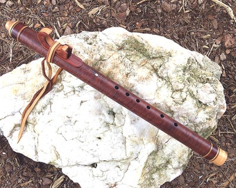 Native American Style Flute, Curly Makore Key of F#m  from Tree of Life Designs