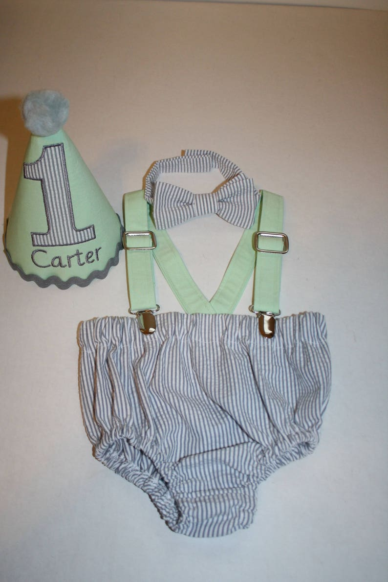 Cake Smash Boy First Birthday Outfit 1st