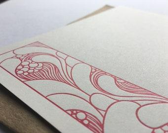 Letterpress Cards | Stationery Set | Boho Notecards | Correspondence Cards | Boho Bubbles