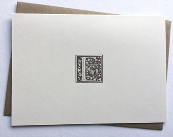 Initial E    Monogram Stationery   Letterpress Notecards   Thank You Cards   Letterpress Stationery   Monogram Cards   Letterpress Cards