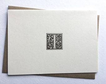Initial I   Monogram Stationery   Letterpress Notecards   Thank You Cards   Letterpress Stationery   Monogram Cards   Letterpress Cards