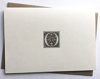 Initial O   Monogram Stationery   Letterpress Notecards   Thank You Cards   Letterpress Stationery   Monogram Cards   Letterpress Cards