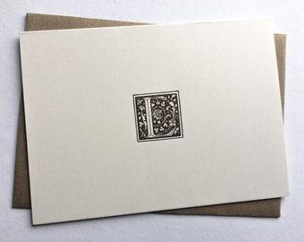 Initial L   Monogram Stationery   Letterpress Notecards   Thank You Cards   Letterpress Stationery   Monogram Cards   Letterpress Cards
