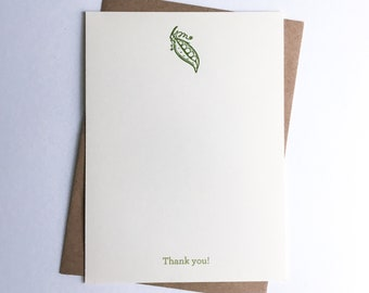 Thank You Cards | Correspondence Cards | Letterpress Cards with Digital Thank You | Baby | Sweet Pea