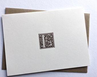 Initial F   Monogram Stationery   Letterpress Notecards   Thank You Cards   Letterpress Stationery   Monogram Cards   Letterpress Cards