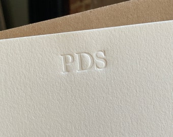 Letterpress Monogram   Custom Letterpress   Letterpress Stationery   Personalized Letterpress   Modern Note Cards   Letterpress Wedding