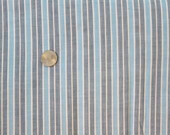 Vintage Blue Stripe Fabric One Yard