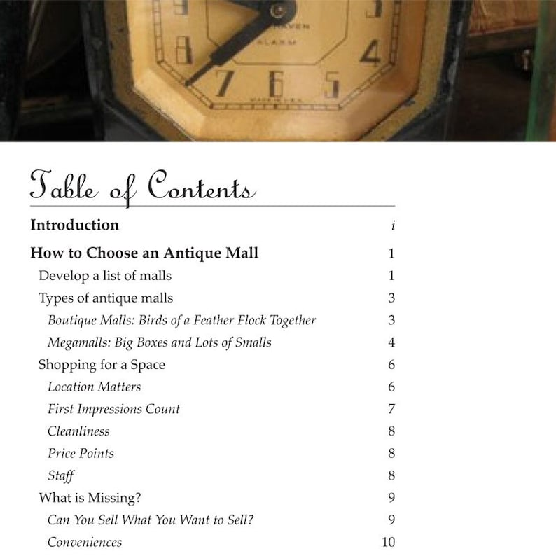 4530defdc2220 PDF Selling in an Antique Mall, selling vintage how-to book, antique dealer  advice, vintage dealer tutorial, antique mall advice