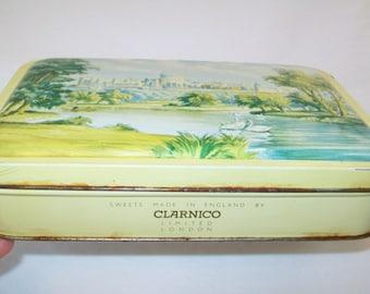 SALE - Vintage Candy Tin, Clarnico, London, 1960s, Windsor Castle