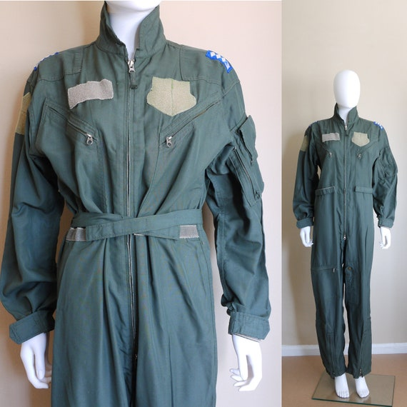 Vintage Military Overall, Military coverall, Jumps