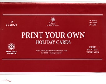 Diy holiday cards etsy diy christmas greeting cards 18 count print your own greeting seasons greetings handmade christmas card kit diy holiday cards m4hsunfo