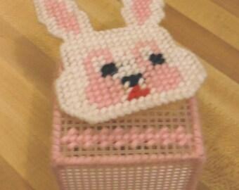 Digital Pattern, Plastic CANVAS Bunny Basket, PDF Instant Digital Download, Nick Knack Keeper, Organizer, Made in NH, Trinket Container, Box
