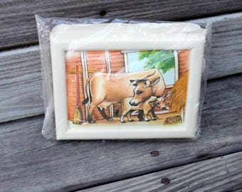 Kit, DIMENSIONAL QUILTING, COW & Calf, DlY, Christmas Gift under 5, Holiday, Farmhouse Decor, Barnyard, Ranch,