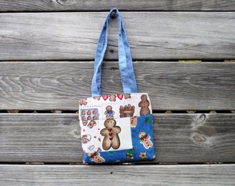 GINGERBREAD MAN TOTE Bag, #3, Showers Bride Baby, School, Carry-All, Book Bag, Market, Messenger, Gym Tote, DlY