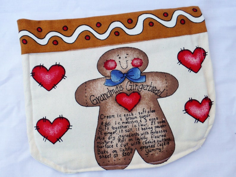 HOT MAT Pot HOLDER Handcrafted Ginger Bread Baking Theme Everyday Hot Mat Sturdy Heavy Duty Pot Holder Kitchen Decor Ready to Ship