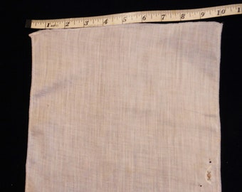 Free Shipping, VINTAGE HANKY, White Handkerchief, Embroidered Roses and White on White Edging, 12 inches square, Cotton Hanky, Collectible
