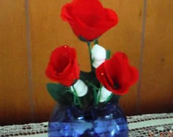 AMERICANA - SILK ROSE, Single Stem Red Roses, Anniversary, Boss, Secretary Day, Teacher, Graduation, Decor, Tea Party, Office, Tea Party,