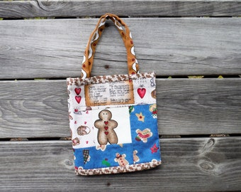 GINGERBREAD MAN TOTE Bag, #1, Showers Bride Baby, School, Carry-All, Book Bag, Market, Messenger, Gym Tote, DlY