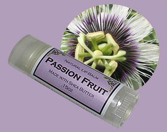 PASSION FRUIT Lip Balm made with Shea Butter - .15oz Oval Tube