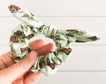 Baby Yoda Scrunchie | Grogu Scrunchie | Star Wars Scrunchie | Disney Scrunchie