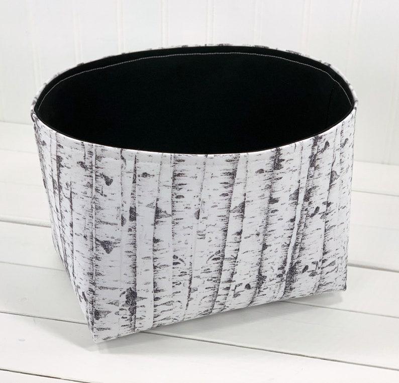 Woodland Nursery Storage Basket Fabric Storage Bin Baby image 0
