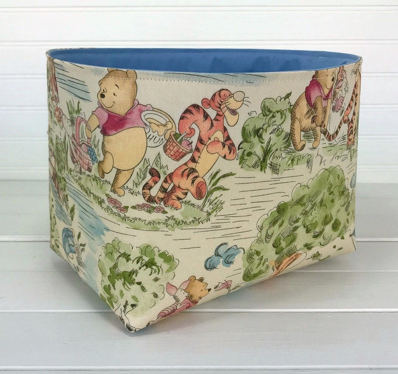 Winnie the Pooh Nursery Decor Storage Basket Organizer Bin image 0