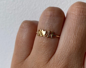 Initial Ring, Mother's Ring, Lover's Ring, Nameplate Ring, Nameplate Jewelry, Initial Jewelry, Customized Ring, Sample Sale, Personalized