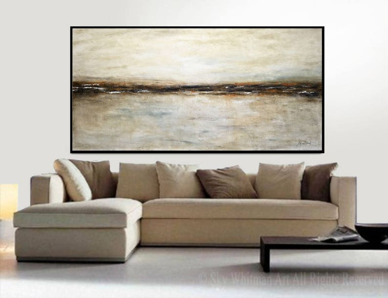 XXL Large Original Oil Painting Landscape Earth Tones Abstract image 0