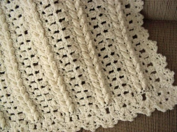 Pattern Only Baby Braided Fisherman Crocheted Baby Afghan Etsy