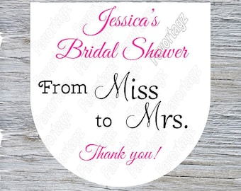 Bachelorette Hand sanitizer labels - Bath & Body Works Sanitizer Labels - From Miss to Mrs
