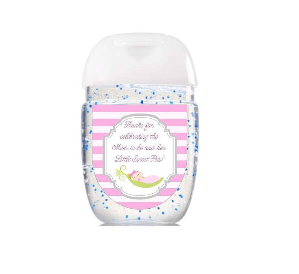 Hand Sanitizer Labels Bath & Body Works Baby Shower Favor