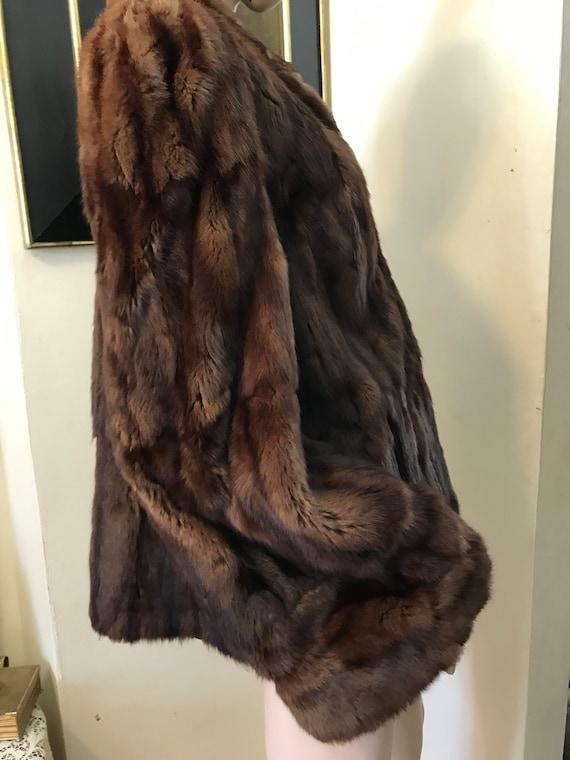 Vintage 30s 40s STunning  Brown Red Fur  Ladies C… - image 3