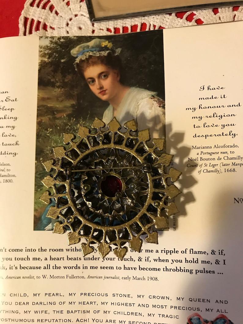 Vintage Showstopper Garnet Amethyst Purple  Clear Rhinestones Estate Massive Ladies Brooch Pin Holiday Bridal  Gift for Her
