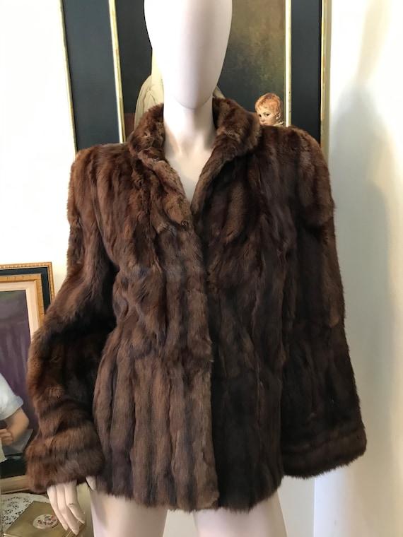 Vintage 30s 40s STunning  Brown Red Fur  Ladies C… - image 1