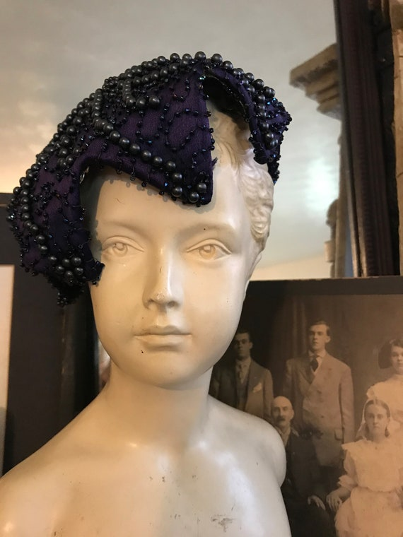 Fabulous Vintage 40s Old Hollywood Blue Purple Bea